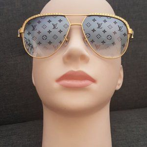 Louis Vuitton Precious Sunglasses Monogram Gold